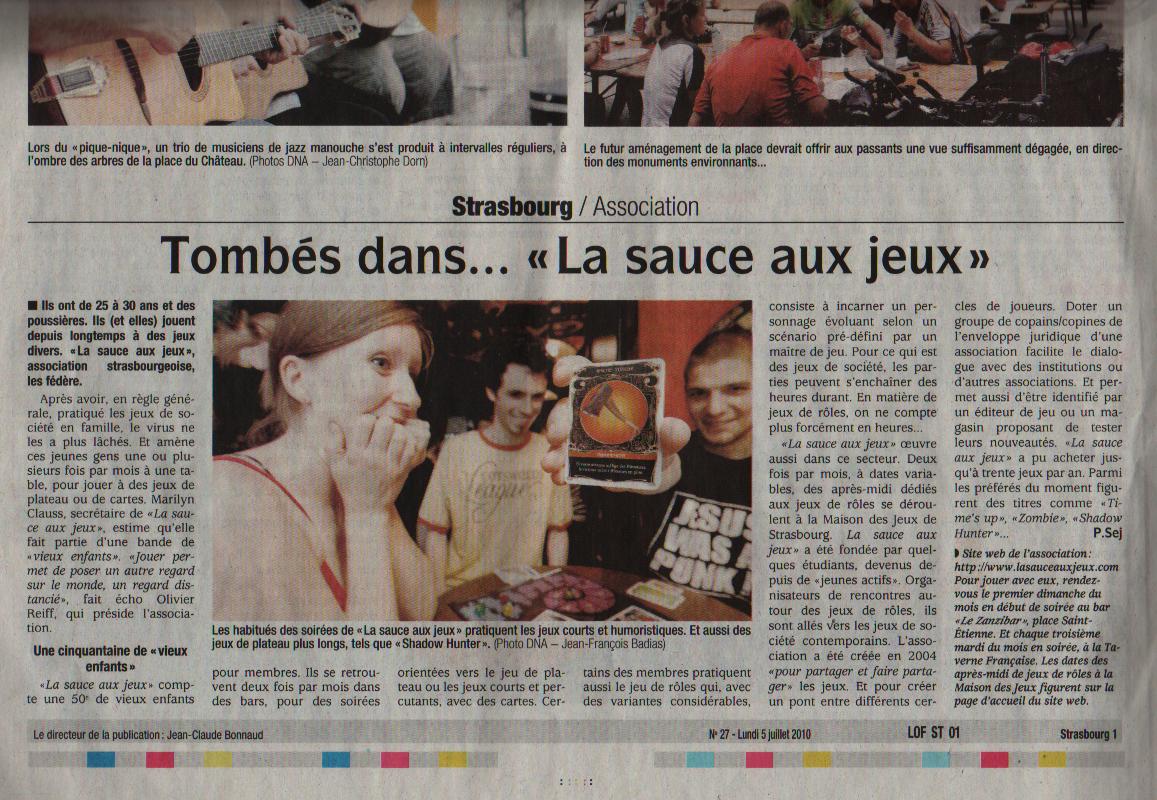 (2010 07 05) Article De Journal DNA 5 Juillet 2010