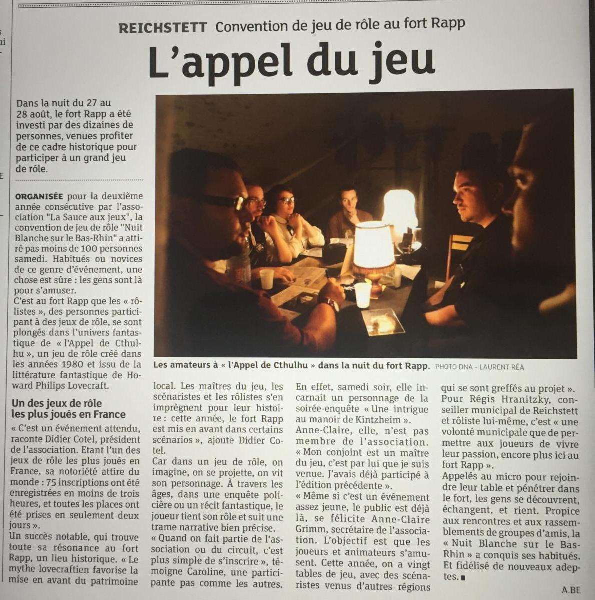 (2016 08 27) Nuit Blanche Sur Le Bas Rhin Article DNA